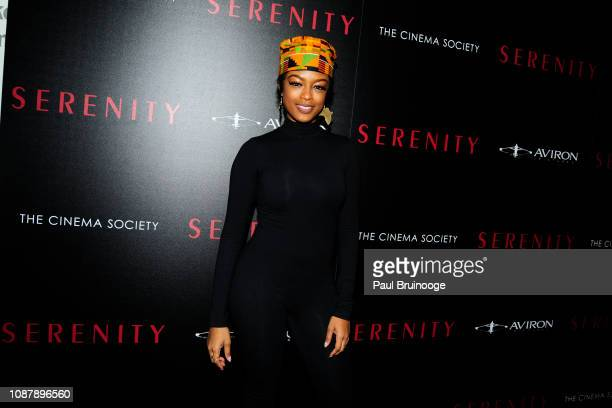 Javicia Leslie attends Aviron Pictures With The Cinema Society Host A Special Screening Of Serenity at Museum of Modern Art on January 23 2019 in New...