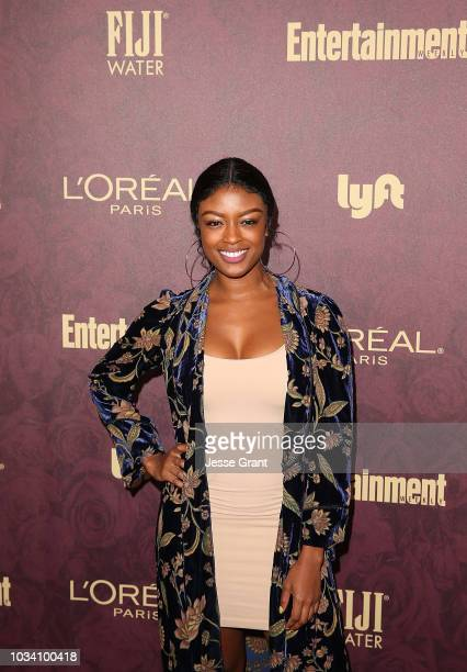 Javicia Leslie attends FIJI Water at Entertainment Weekly PreEmmy Party on September 15 2018 in Los Angeles California