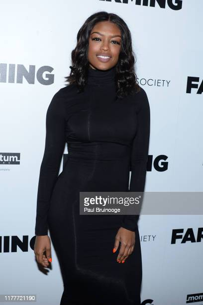 Javicia Leslie attends Momentum Pictures And The Cinema Society Host A Special Screening Of Farming at Village East Cinema on October 22 2019 in New...