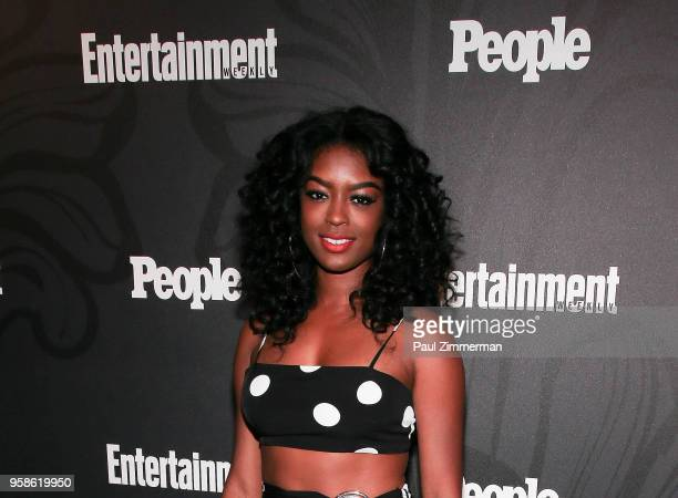 Javicia Leslie attends the 2018 Entertainment Weekly PEOPLE Upfront at The Bowery Hotel on May 14 2018 in New York City