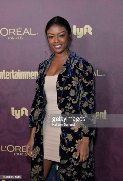 Javicia Leslie attends the 2018 PreEmmy Party hosted by Entertainment Weekly and L'Oreal Paris at Sunset Tower on September 15 2018 in Los Angeles...