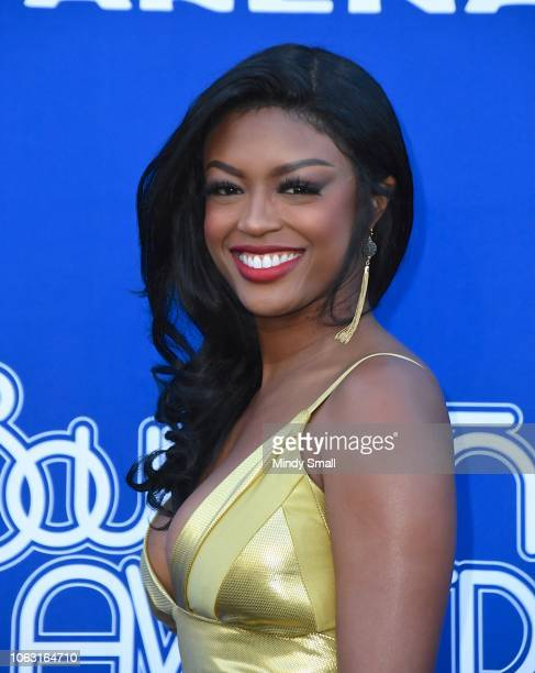 Javicia Leslie attends the 2018 Soul Train Awards at the Orleans Arena on November 17 2018 in Las Vegas Nevada