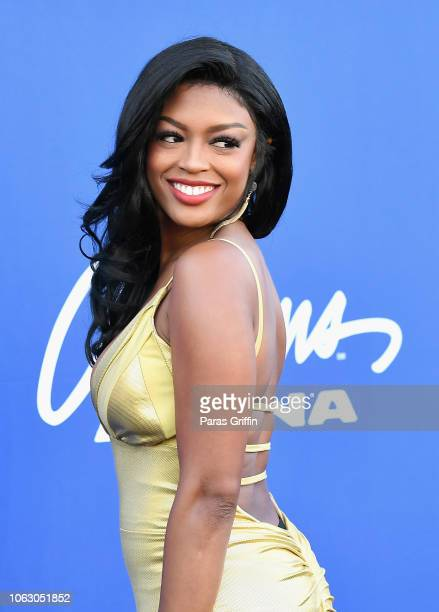 Javicia Leslie attends the 2018 Soul Train Awards presented by BET at the Orleans Arena on November 17 2018 in Las Vegas Nevada