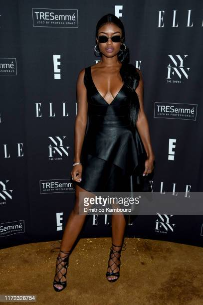 Javicia Leslie attends the E ELLE and IMG NYFW kickoff party hosted by TRESemmé on September 04 2019 in New York City