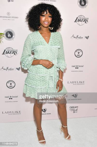 Javicia Leslie attends The LadyLike Foundation's 11th Annual Women of Excellence Luncheon at The Beverly Hilton Hotel on May 11 2019 in Beverly Hills...