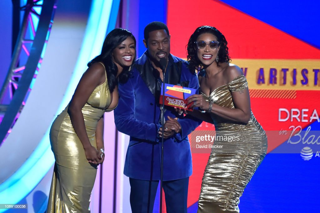 Javicia Leslie, Darrin Henson and Tami Roman present the Best New