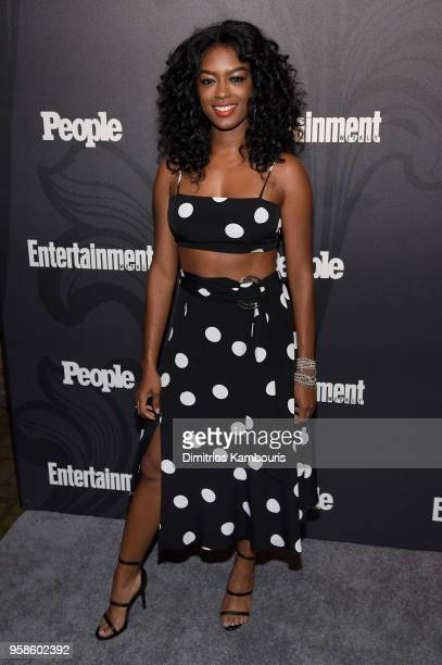 Javicia Leslie of God Friended Me attends Entertainment Weekly PEOPLE New York Upfronts celebration at The Bowery Hotel on May 14 2018 in New York...