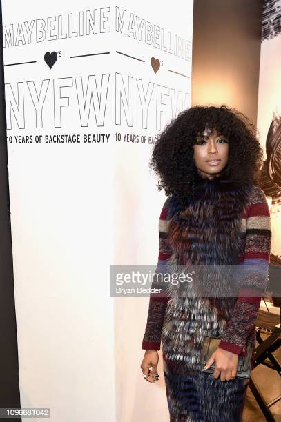 Javicia Leslie visits the Maybelline New York Lip Lash Bar during New York Fashion Week The Shows at Spring Studios on February 9 2019 in New York...