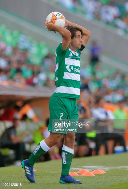 Javier Abella of Santos during the 1st round match between Santos Laguna and Lobos BUAP as part of the Torneo Apertura 2018 Liga MX at Corona Stadium...