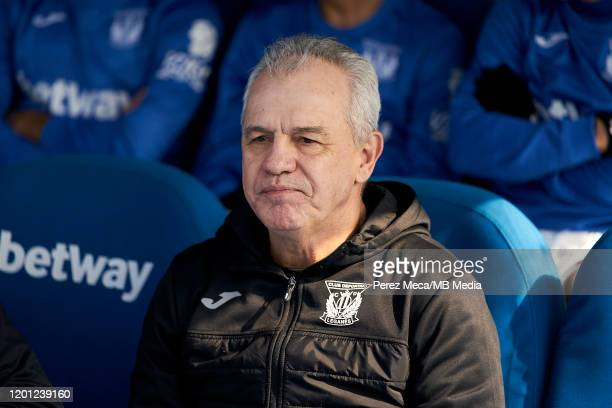 Javier Aguirre coach of CD Leganes during the Liga match between CD Leganes and Real Betis Balompie at Estadio Municipal de Butarque on February 16...