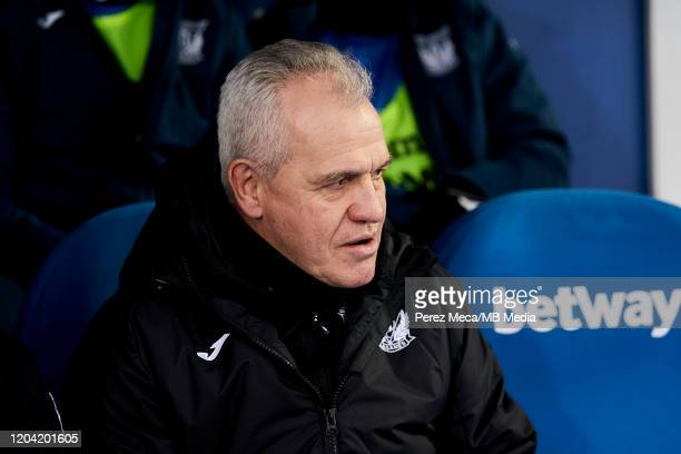 Javier Aguirre coach of CD Leganes during the Liga match between CD Leganes and Deportivo Alaves at Estadio Municipal de Butarque on February 29,...