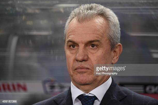 Javier Aguirre coach of Japan during the international friendly match between Japan and Australia at Nagai Stadium on November 18 2014 in Osaka Japan