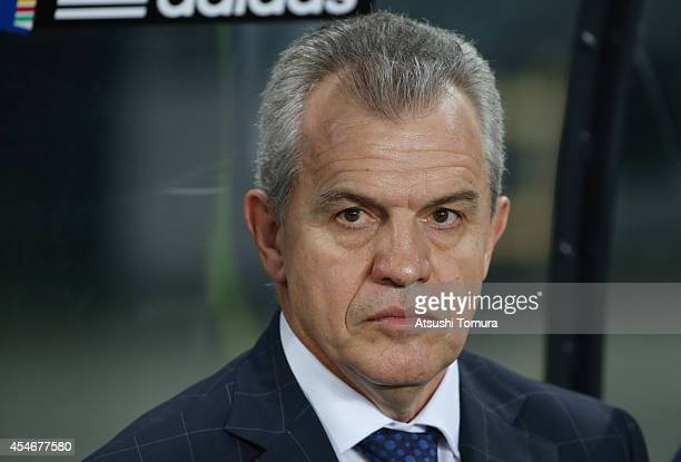 Javier Aguirre head coach of Japan looks on during the KIRIN CHALLENGE CUP 2014 international friendly match between Japan and Uruguay at Sapporo...
