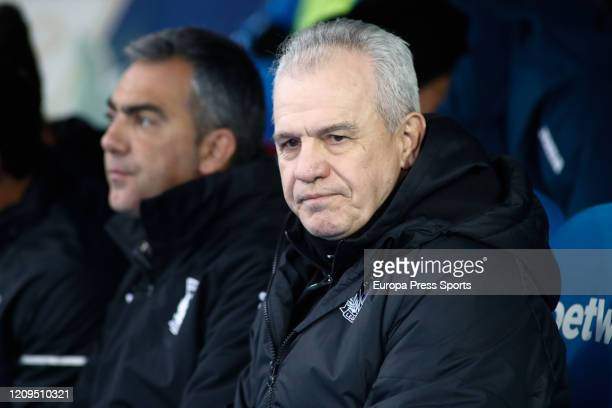 Javier Aguirre head coach of Leganes looks on during the Spanish League La Liga football match played between CF Leganes and Deportivo Alaves at...
