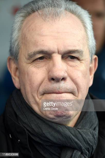 Javier Aguirre, Manager of Leganes looks on prior to the La Liga match between CD Leganes and FC Barcelona at Estadio Municipal de Butarque on...
