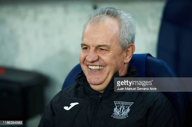 Javier Aguirre of CD Leganes looks on during the Liga match between Real Sociedad and CD Leganes at Estadio Anoeta on November 08 2019 in San...