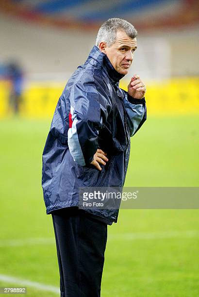 Javier Aguirre Osasuna coach during the Spanish Primera Liga match between RCD Espanyol and Osasuna at the Estadio Ol�mpico de Montjuic on December 3...