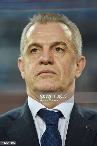 Javier Aguirre team coach of Japan looks on during the 2015 Asian Cup Quarter Final match between Japan and the United Arab Emirates at ANZ Stadium...