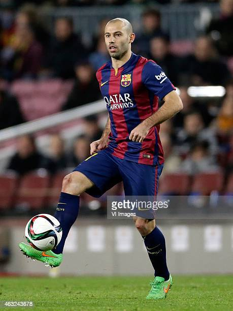 Javier Alejandro Mascherano of FC Barcelona during the Copa del Rey match between FC Barcelona and Villarreal at Camp Nou on february 11 2015 in...