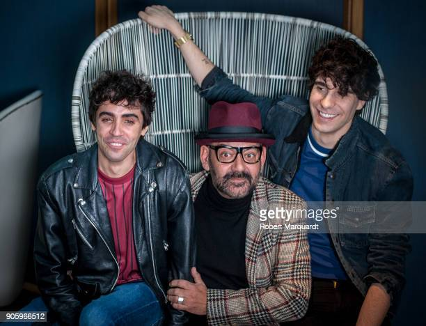 Javier Ambrossi Jose Carbacho and Javier Calvo pose for the press during a candidate presentation for the 10th Gaudi Awards 2018 at the Hotel...