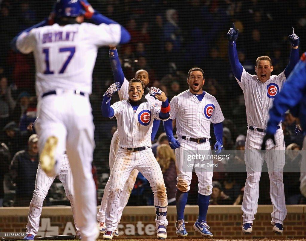 Miami Marlins v Chicago Cubs : Fotografía de noticias