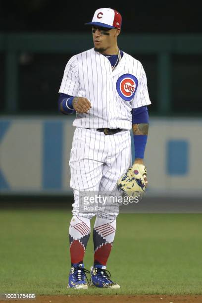 Javier Baez of the Chicago Cubs during the 89th MLB AllStar Game presented by Mastercard at Nationals Park on July 17 2018 in Washington DC