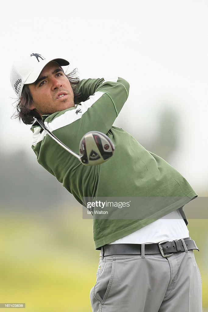 Javier Ballesteros of Spain in action during the 2nd round of the Challenge de Madrid on the European Challenge Tour in El Encin Golf Course on April 25, 2013 in Madrid, Spain.