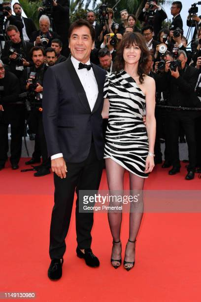 Javier Barde and Charlotte Gainsbourg attend the opening ceremony and screening of The Dead Don't Die during the 72nd annual Cannes Film Festival on...