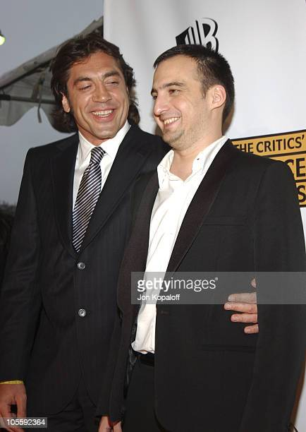 Javier Bardem and Alejandro Amenabar during 10th Annual Critics' Choice Awards Arrivals at Wiltern LG Theatre in Los Angeles California United States