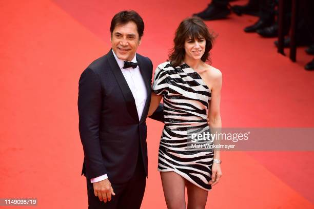 Javier Bardem and Charlotte Gainsbourg attend the opening ceremony and screening of The Dead Don't Die during the 72nd annual Cannes Film Festival on...