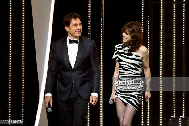 Javier Bardem and Charlotte Gainsbourg attend the Opening Ceremony during the 72nd annual Cannes Film Festival on May 14 2019 in Cannes France