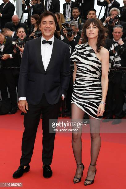 Javier Bardem and Charlotte Gainsbourg attends the opening ceremony and screening of The Dead Don't Die during the 72nd annual Cannes Film Festival...