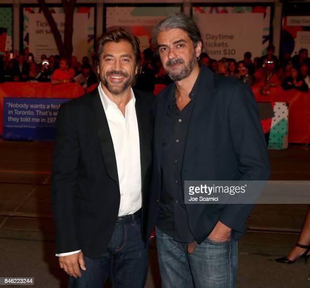Javier Bardem and Fernando Leon de Aranoa attend the Loving Pablo premiere during the 2017 Toronto International Film Festival at Princess of Wales...