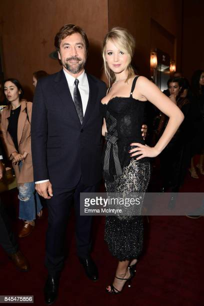 Javier Bardem and Jennifer Lawrence attend the 2017 Toronto International Film Festival premiere of 'mother' at Princess of Wales Theatre on...