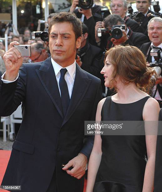 Javier Bardem and Kelly Macdonald during 2007 Cannes Film Festival 'No Country for Old Men' Premiere at Palais des Festival in Cannes France
