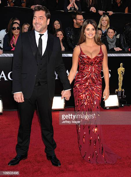 Javier Bardem and Penelope Cruz arrive at the 83rd Annual Academy Awards held at the Kodak Theatre on February 27 2011 in Hollywood California