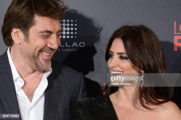 Javier Bardem and Penelope Cruz attend 'Loving Pablo' Madrid Premiere on March 7 2018 in Madrid Spain