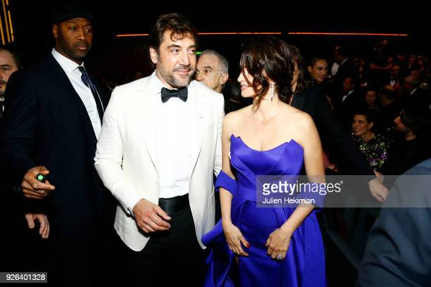Javier Bardem and Penelope Cruz attend the Cesar Film Awards 2018 at Salle Pleyel on March 2, 2018 in Paris, France.