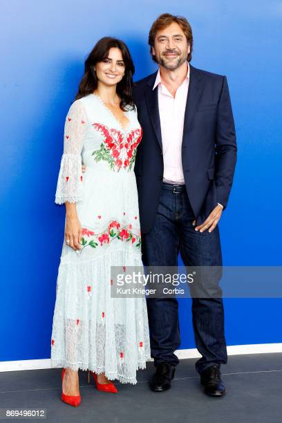 Javier Bardem and Penelope Cruz attend the 'Loving Pablo' photocall during the 74th Venice Film Festival on September 06 2017 in Venice Italy