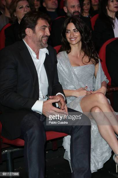Javier Bardem and Penelope Cruz attend the 'Union de Actores' awards gala at Circo Price theater on March 12 2018 in Madrid Spain