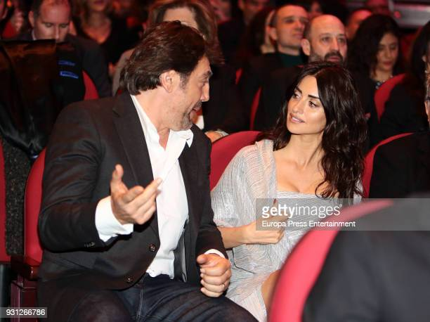 Javier Bardem and Penelope Cruz attend the Union de Actores Awards ceremony at the Circo Price on March 12 2018 in Madrid Spain
