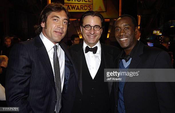Javier Bardem Andy Garcia and Don Cheadle during 10th Annual Critics' Choice Awards Audience and Backstage at Wiltern LG Theater in Los Angeles...