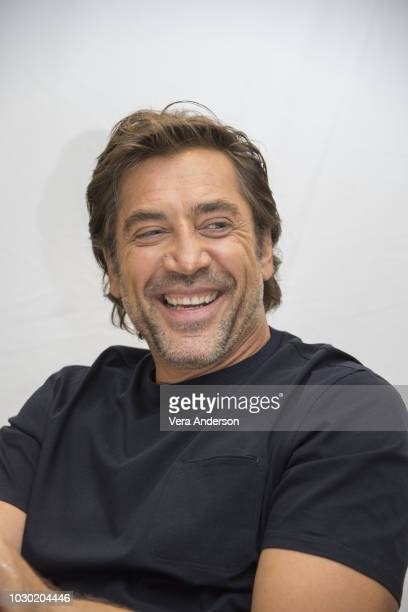 """Javier Bardem at the """"Everybody Knows"""" Press Conference at the Fairmont Royal York Hotel on September 9, 2018 in Toronto, Canada."""