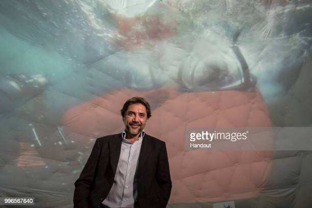 Javier Bardem attends a Greenpeace campaign event on July 09 2018 in Cambridge England Bardem joined Greenpeace to discuss a campaign to create a...