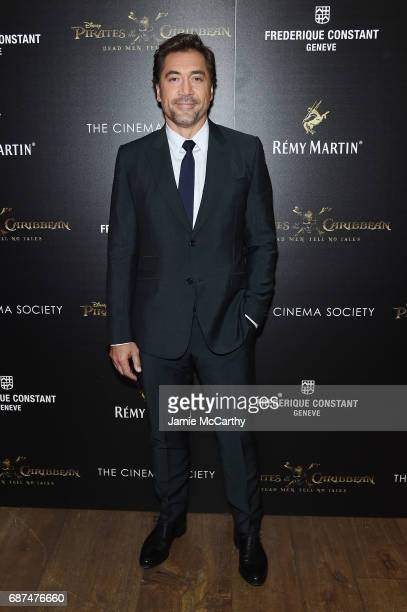 Javier Bardem attends a screening of 'Pirates Of The Caribbean Dead Men Tell No Tales' hosted by The Cinema Society at Crosby Street Hotel on May 23...
