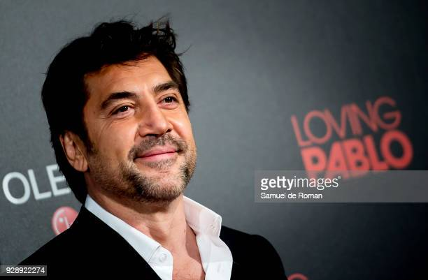 Javier Bardem attends 'Loving Pablo' Madrid Premiere on March 7 2018 in Madrid Spain