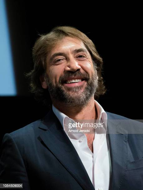 Javier Bardem attends the opening ceremony during the 10th Film Festival Lumiere on October 13 2018 in Lyon France
