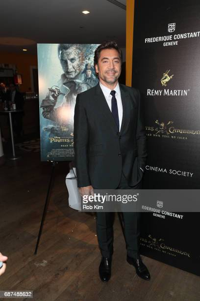 Javier Bardem attends the screening for 'Pirates of The Caribbean Dead Men Tell No Tales' presented by Remy Martin at the Crosby Street Hotel on May...