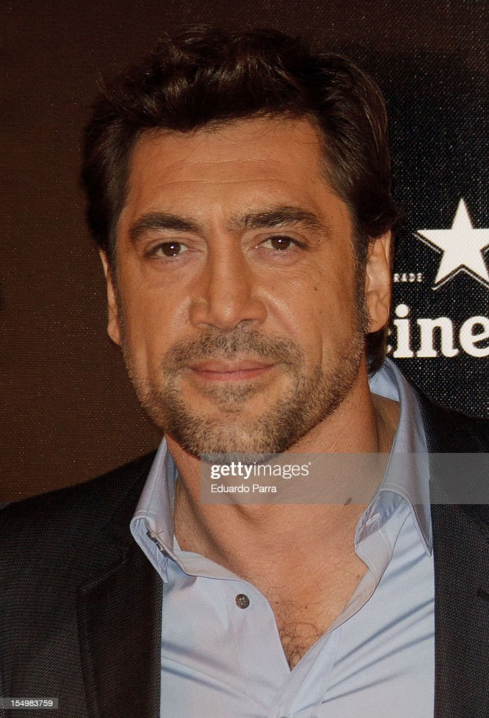 Javier Bardem attends the 'Skyfall' photocall premiere at Santa Ana Square on October 29, 2012 in Madrid, Spain.