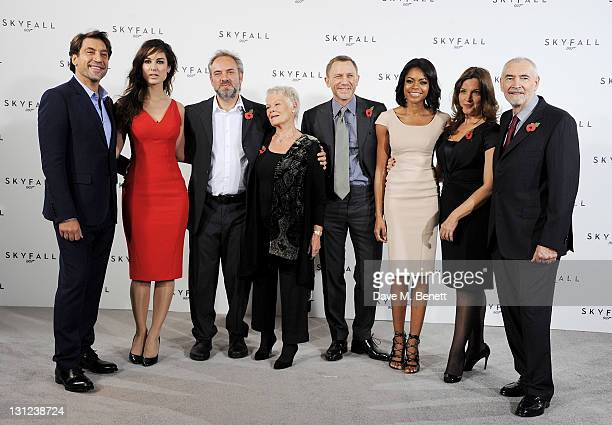 Javier Bardem Berenice Marlohe director Sam Mendes Dame Judi Dench Daniel Craig Naomie Harris producer Barbara Broccoli and producer Michael G Wilson...